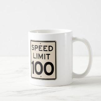 Vintage Speed Limit Sign Speed Limit 100 mph Coffee Mug