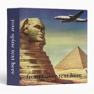 Vintage Sphinx Airplane Desert Pyramids Egypt Giza Binders