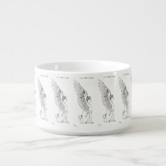 Vintage Sphinx illustration Bowl