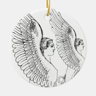 Vintage Sphinx illustration Ceramic Ornament