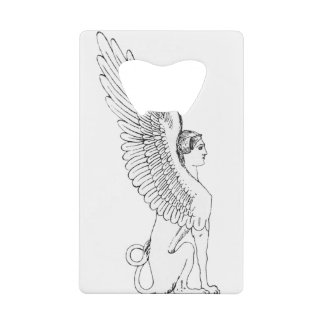 Vintage Sphinx illustration Credit Card Bottle Opener