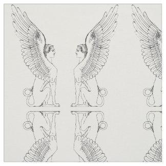 Vintage Sphinx illustration Fabric