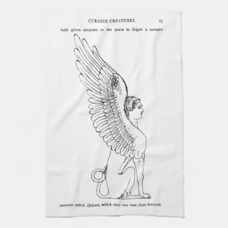 Vintage Sphinx illustration Kitchen Towel
