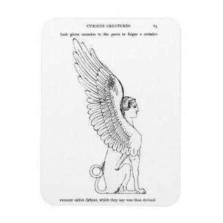Vintage Sphinx illustration Magnet
