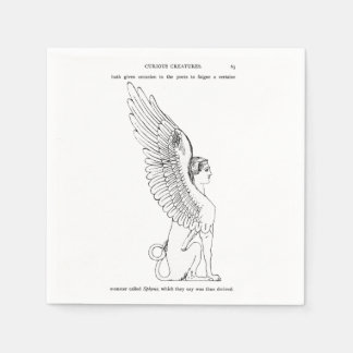 Vintage Sphinx illustration Paper Napkin