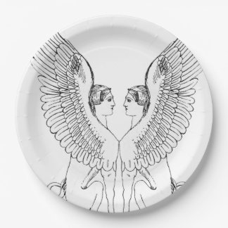 Vintage Sphinx illustration Paper Plate