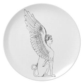 Vintage Sphinx illustration Plate