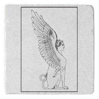 Vintage Sphinx illustration Trivet