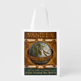 Vintage Spice Label, Vanilla, grocery bag