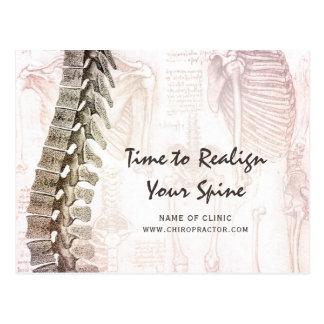 Vintage Spine Chiropractor Appointment Reminder Postcard