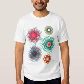 Vintage Spirograph Illustration Kitsch Tshirts