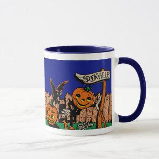 Vintage Spookville Halloween Mug