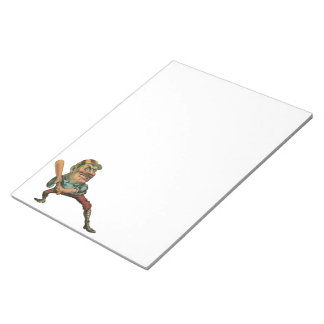 Vintage Sports, Angry Baseball Player Notepads