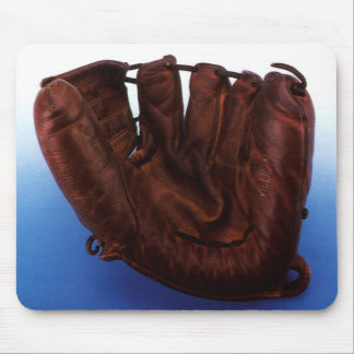 Vintage Sports, Antique Leather Baseball Glove Mouse Pad
