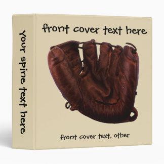 Vintage Sports, Antique Leather Baseball Glove Vinyl Binder