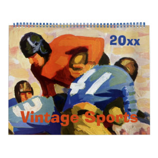 Vintage Sports, Baseball, Football and Basketball Calendar