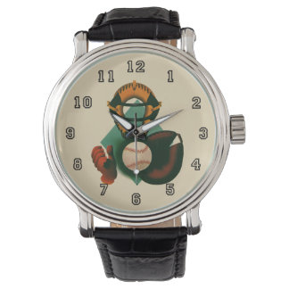 Vintage Sports, Baseball Player, Catcher with Mitt Watch