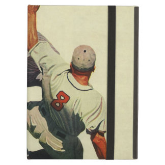 Vintage Sports Baseball, Player Sliding into Home iPad Air Case
