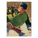 Vintage Sports Baseball Player, Umpire Greeting Cards