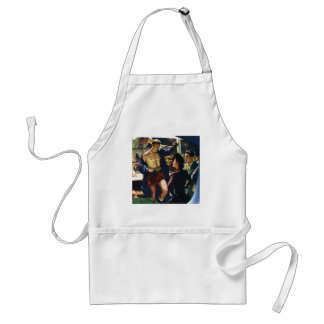Vintage Sports, Boxer Leaving the Boxing Ring Standard Apron
