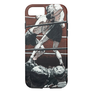 Vintage Sports Boxing, Boxers Fight in the Ring iPhone 7 Case
