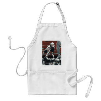 Vintage Sports Boxing, Boxers Fight in the Ring Standard Apron