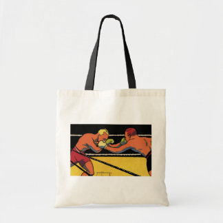 Vintage Sports Boxing, Boxers Fighting in the Ring Budget Tote Bag