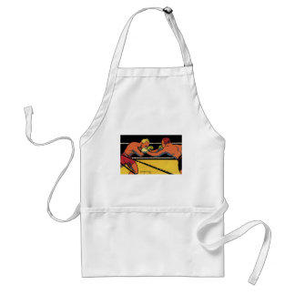 Vintage Sports Boxing, Boxers Fighting in the Ring Standard Apron