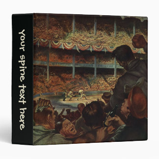 Vintage Sports Fans in a Baseball Stadium 3 Ring Binder