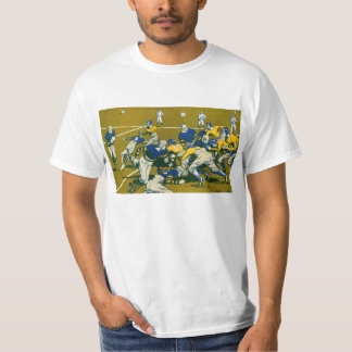 Vintage Sports Football Game, Blue vs Gold Teams T-shirts