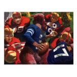 Vintage Sports Football Player Quarterback Postcard