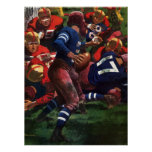 Vintage Sports Football Player Quarterback Poster