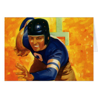 Vintage Sports Football Player Quarterback Running Card