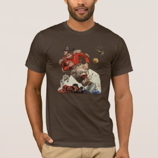 Vintage Sports Football Quarterback Player Running T-Shirt
