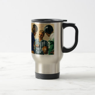 Vintage Sports, Football Referee Coin Toss Travel Mug