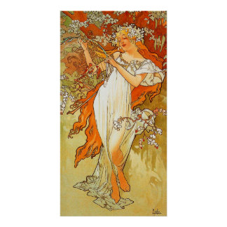 Vintage Spring by Alphonse Mucha Poster