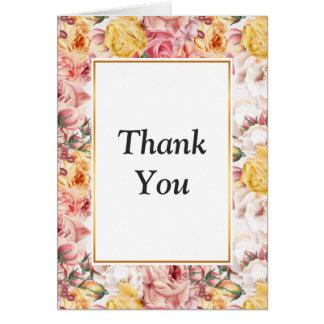 Vintage spring floral bouquet grunge pattern card