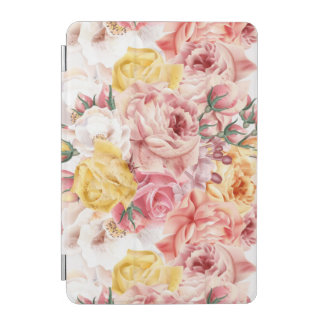 Vintage spring floral bouquet grunge pattern iPad mini cover