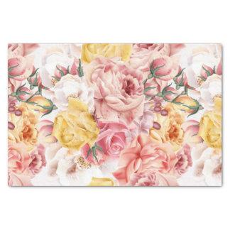 Vintage spring floral bouquet grunge pattern tissue paper