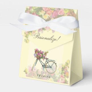 Vintage Spring Flowers Bike Favor Box