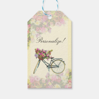 Vintage Spring Flowers Bike Gift Tags