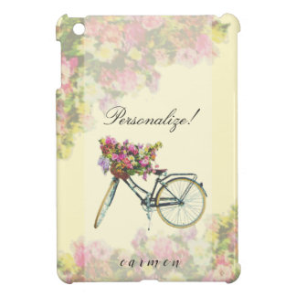 Vintage Spring Flowers Bike iPad Mini Case