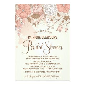 Vintage Spring Flowers Bridal Shower Invitation