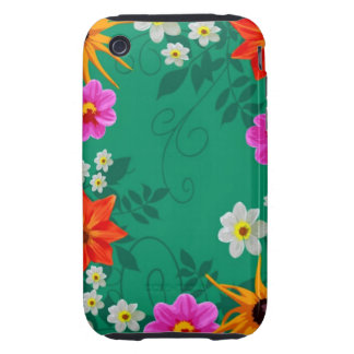 Vintage Spring Flowers iPhone 3 Tough Cover