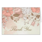 Vintage Spring Flowers Rustic Thank You Card