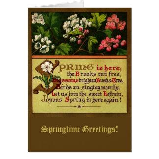 Vintage Springtime Solstice Easter Greeting Card