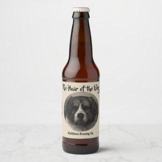 Vintage St. Bernard Dog Custom Beer Label