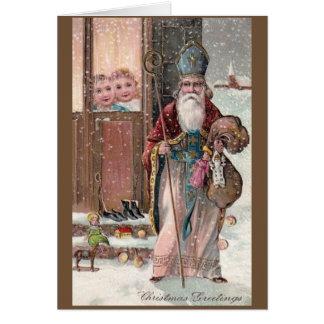 Vintage St. Nicholas Christmas Greeting Card
