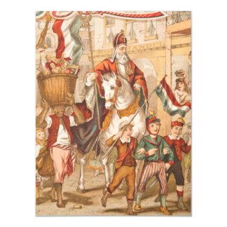 Vintage St. Nicholas Dutch St. Nick Sinterklaas Magnetic Card