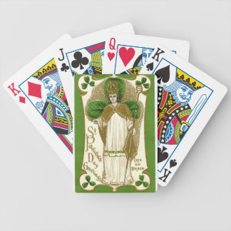 Vintage St Patrick Day's greetings Erin Go Bragh Bicycle Playing Cards